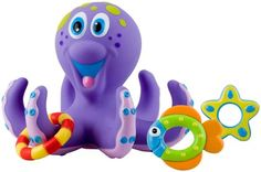 Nuby Octopus Floating Bath Toy. Make bath time fun! Teach coordination and rest easy knowing this toy exceeds all government safety regulations!