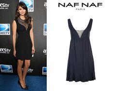 Nina Dobrev acudió a la fiesta de la Superbowl con un sencillo vestido negro con encaje conquistando a todos los presentes.  El secreto está en el escote y con este vestido Naf Naf conseguirás el mismo efecto, elegante y sexy!!
