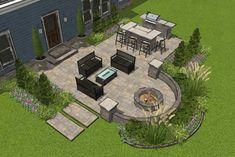 Outdoor Patio Designs, Small Backyard Design, Small Backyard Landscaping, Backyard Ideas, Back Yard Design, Backyard Landscape Design, My Patio Design, Outdoor Patios, Landscaping Ideas
