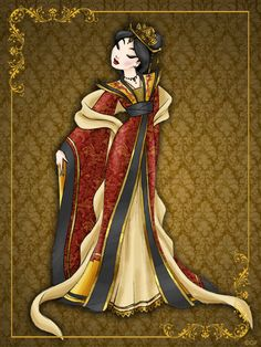 Queen Disney Mulan designer collection by LeleDraw