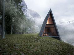 """Popatrz na ten projekt w @Behance: """"Triangle Cliff House"""" https://www.behance.net/gallery/37975721/Triangle-Cliff-House"""
