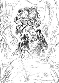 Fellowship Of The Frogeaters from DouglasBot (A Song of Ice and Fire artwork) the Reeds, Bran and Hodor