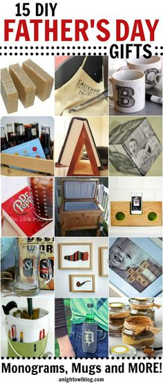 15 DIY Father's Day Gifts   #diy #fathersday #gfits #handmade