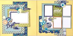 Legit Boy Themed Two Page Scrapbook Layout