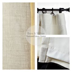 Affordable Luxury (Drapery) For The Home :: Barn & Willow...love the detail in the Belgium Linen drapery via theaceofspaceblog.com Pelmets, Farm Barn, Window Dressings, Drapery, Belgium, Pure Products, Detail, Luxury, Home