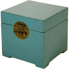 Turquoise Storage Box.