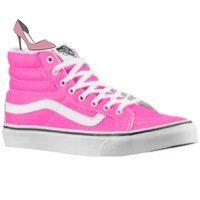 Vans Sk8-Hi Slim Sneakers Neon Leather, Rose, 36 ...