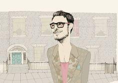 illustration, hipster,boy