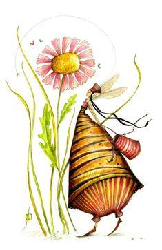 Une autre abeille, oui, qui quelques années plus tôt a élu domicile sur un pot de miel...