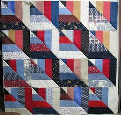 Twisted rail quilt