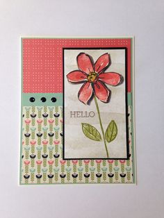 Card made with Stampin Up Garden in Bloom SS and Pretty Petals DSP