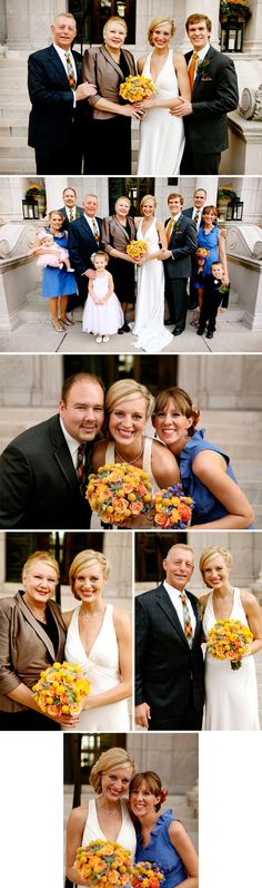 I love the third photo from the top. Sweet, informal, natural.