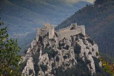 Chateau de Puilaurens, in the Cathar region in the south of France. #castle #France #Cathar