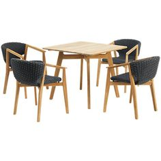 Buy Ethimo Knit Dining Set 4 Armchairs Online at johnlewis.com