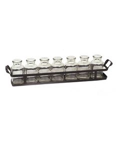 Look at this Glass Bottle & Metal Tray Set on #zulily today!
