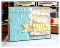 Stampin' Up! paper Pumpkin  Stampin' Supplies:  Stamps: March 2013 My Paper Pumpkin - Hey There; CS: Crumb Cake, Pool Party,  First   Edition DSP (retired), Sunshine & Sprinkles DSP  Ink: Crumb Cake, So Saffron, Calypso Coral, Island Indigo; Accessories: Calypso Coral Euffled Ribbon, Vintage Faceted Buttons, Linen Thread, Honeycomb Embossing Folder