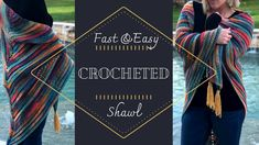Looking for a FREE shawl pattern that is QUICK and EASY? This is the perfect crochet shawl tutorial for someone who has never made a shawl b. Crochet Jacket, Crochet Poncho, Crochet Scarves, Crochet Clothes, Easy Crochet Projects, Crochet Tutorials, Video Tutorials, Floral Bedspread, Crochet Cozy