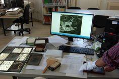 Seguimos con los trabajos de catalogación y ordenación de los fondos fotográficos del Archivo #GómezMoreno.