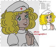 Schema punto croce Candy Candy infermiera
