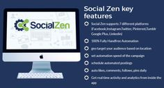 Social Zen Software By Oj James Review is  Best Software That Will Build Your Following Via Many Social Platforms Such As Facebook, Instagram, Twitter, Tumblr, Linkedin, Pinterest, Google+ With Tons Of Likes, Shares, Follows, Comments And Pins And Tweets To Creates Massive Exposure, Brings In Traffic, Leads & Sales With 100% Hands Free Automation 24/7 On Complete Autopilot. #socialzen #socialmedia #traffic #viral #internetmarketing #shopify #facebookmarketing