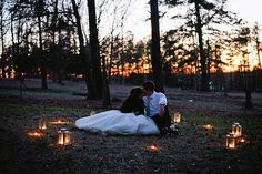 Wedding Photography Ideas : Lanterns for an after wedding nighttime shoot. Blest Photography.