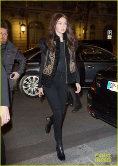 Hailey Baldwin & Gigi Hadid Are Models on the Go During PFW: Photo #937540. Hailey Baldwin steps out of the George V hotel sporting a colorful bomber and two braids on Friday (March 4) in Paris, France.    The 19-year-old model is in town…
