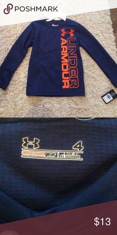 Under Armour Long Sleeve Shirt NWT , boys size 4 Under Armour Shirts & Tops Tees - Long Sleeve