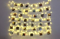 DIY Fairy Light Photo Collage & The Perfect YouTube Backdrop!