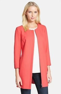 Classiques Entier® 'City Weave' Zip Front Topper available at #Nordstrom   Comes in pink or black.  $298