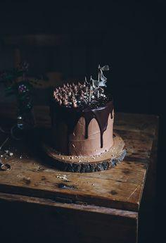 A triple chocolate cake!
