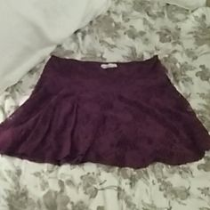 Abercrombie & Fitch wine lace skirt M Brand new, never worn Abercrombie & Fitch Skirts Mini