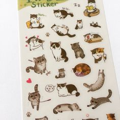 Kawaii Cat Stickers, Cat Planner Stickers, Diary Stickers, Card Embellishment, Korean Stickers, Tiny Craft Stickers, Scrapbooking Supply by dadastickers on Etsy https://www.etsy.com/listing/261195574/kawaii-cat-stickers-cat-planner-stickers
