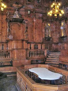 Archiginnasio-teatroanatomico - Bologna - Anatomical theatre of the Archiginnasio, dating from 1637.
