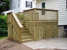 Cute Small Deck With Storage Underneath   Nice For A Small Backyard. Finish  Our Steps