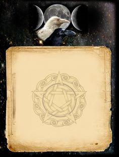 Book of Shadows:  Digital BoS Pagan & Wiccan graphics, by Grimdeva.