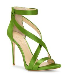 Cypress:Imagine Vince Camuto Devin High Heel Satin Strappy Dress Sandals