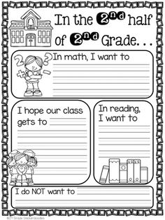 FREE The Half of Grade … FREE activity for back to school after winter break. by Grade Snickerdoodles 2nd Grade Classroom, 2nd Grade Math, Grade 1, Classroom Ideas, Third Grade, Future Classroom, 2nd Grade Activities, New Years Activities, Reading Activities