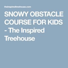 SNOWY OBSTACLE COURSE FOR KIDS - The Inspired Treehouse