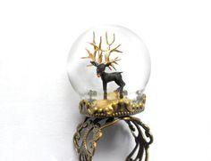 Globo di anello fantasia con cervo nera e oro palchi di di HoKiou