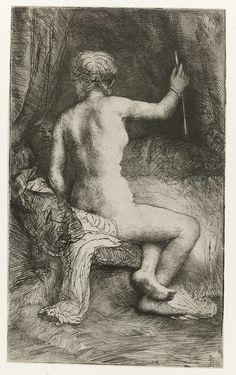 De vrouw met de pijl, Rembrandt Harmensz. van Rijn, 1661