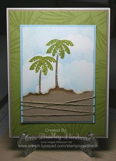 Serene Palm Trees by erinbh - Cards and Paper Crafts at Splitcoaststampers