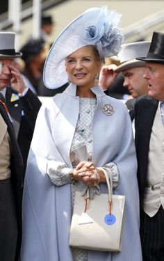 Princess Michael of Kent, June 21, 2013 on day 4 of Royal Ascot. She is an Austrian-Hungarian member of the British Royal Family. She is married to Prince Michael of Kent, who is a grandson of King George V. Princess Michael is an interior designer