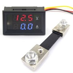 DROK DC 4530V 100A Digital Volt Amp Panel Meter RedBlue Dual LED DisplayCurrent Shunt Model -- Check out the image by visiting the gardening link.