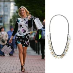 Pippa O'Connor rocking the Freya Necklace