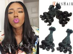 This peruvian virgin hair is one of our best human hair extension. Curls keep the same after washing. It is bouncy. Weave Hairstyles, Pretty Hairstyles, Hair You Wear, Peruvian Hair Weave, Best Human Hair Extensions, Hair Design, Hair Products Online, Brown To Blonde, 100 Human Hair
