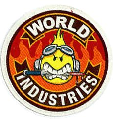 WORLD INDUSTRIES 6 Pack STICKER decal skate skateboard streetwear street art