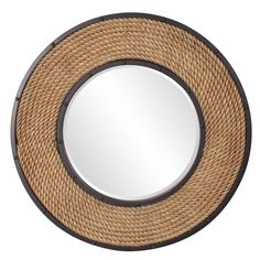 "Howard Elliott South Hampton Round Rope Mirror 36"" Diameter x 2"""