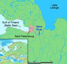 The Neva River was where Peter the Great's swampy city was located. He forced thousands of serfs to drain the swamps and many died.