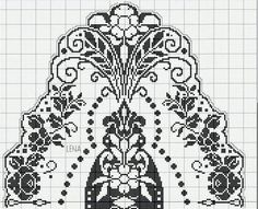 Kira scheme crochet: Scheme crochet no. Filet Crochet Charts, Crochet Diagram, Crochet Motif, Crochet Lace, Crochet Flower, Beau Crochet, Love Crochet, Beautiful Crochet, Ancient Art