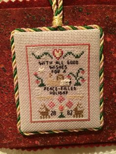 With all Good Wishes for a Peace Filled Holiday Christmas Cross Stitch